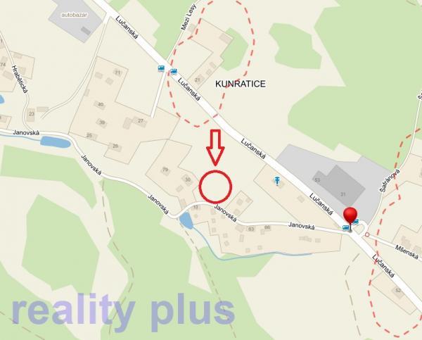 Prodej stavebního pozemku v Liberci - Kunratice